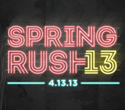 Students - Spring Rush 2013
